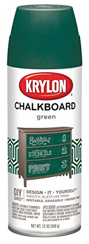Krylon I00806 Chalkboard Aerosol Spray Paint, 12-Ounce, Green -