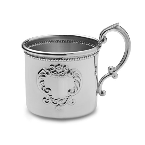 (EMPIRE Raised Design Beaded Pewter Baby Cup)