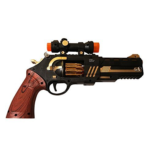 LilPals Shoot Em' Up Wild West Toy Gun - Featuring Flashing LED Lights Playful Sounds - Keeps Kids Active