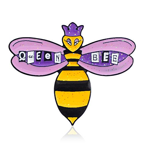 nsect Queen Bee Colorful Enamel Lapel Button Pin Badge Brooch Jewelry - Purple ()