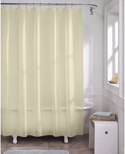 Sweet Home Collection Shower Curtain Liner Heavy-Duty Vinyl Mildew Resistant Fashionable 70 x 72 with Top Grade Rust Proof Metal Grommets Standard Extra Long Silver
