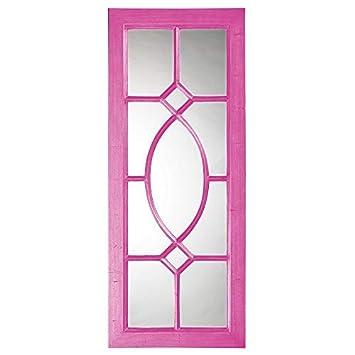 Howard Elliott 60108HP Dayton Mirror, Glossy Hot Pink