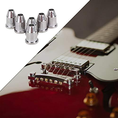 8Eninine Electric Guitar String Caps Mounting Buckle Through Body Ferrules Bushing Silver