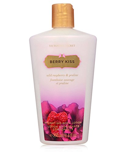 Victoria's Secret Berry Kiss Hydrating Body Lotion with Wild Raspberry & Praline 8.4oz / 250mL (Victoria Secret Creams)