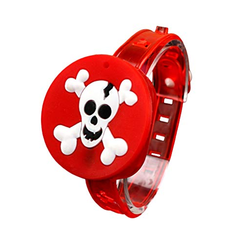 BESTOYARD Children Luminous Wristbands for Halloween Chritmas Festival Dance Party(Skull)