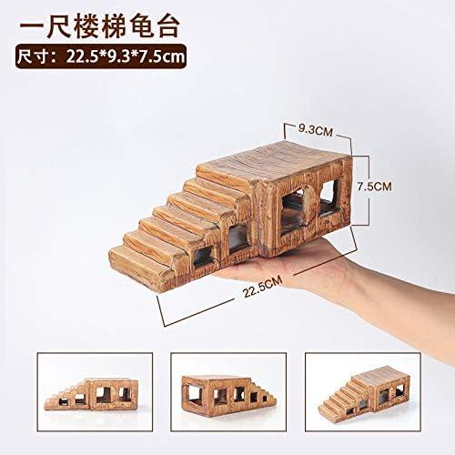 JRTAN y Mascotas Tortuga Cerámica Terraza Agua Tortuga Sol Volver Plataforma Escalera Escalada en Roca, Tortuga de Escalera de un pie: Amazon.es: Productos para mascotas