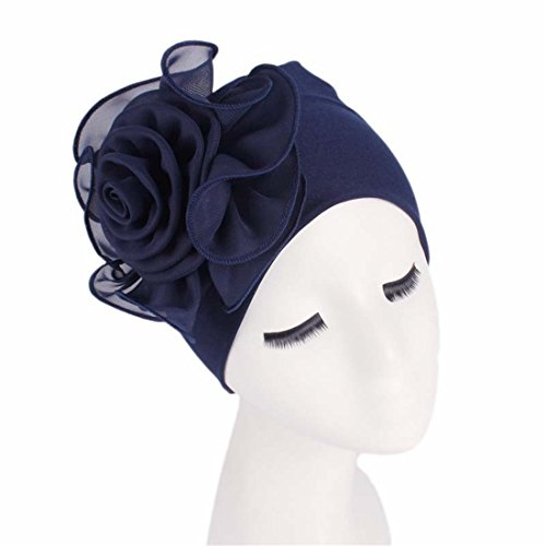 Qhome Women King Size Flower Stretchy Beanie Turban