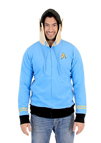 Star Trek I Am Spock Adult Light Blue Costume Hoodie (Adult XX-Large) ()