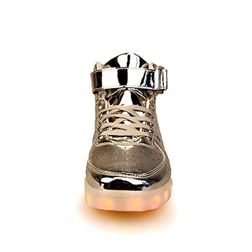 Deporte ZHZNVX Mujer Silver Otoño Zapatos Botas Slouch Ligeros Zapatos PU de Primavera Comodidad Zapatillas Poliuretano Punta Redonda para Tacón de con Cordones Plano Zapatos Caminar pp6wqrS
