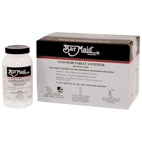 Tablets Sanitizer (Bar Maid DIS-201 Dishwashing Sanitizing Tablets, Bottle of 150)