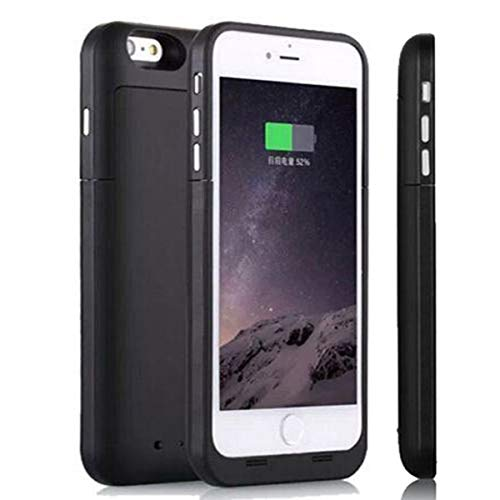 iPhone 6S Plus/6 Plus Battery Case [6800mAh], NOVPEAK Ultra Slim External Backup Battery Charger Case Cover Power Bank Pack (Black,5.5 Inch) [Not for ...