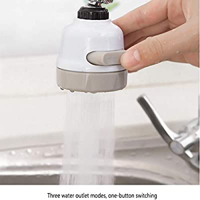 Tap Water Filter,3 Modes Position Adjustable Faucet Water Filter for the Kitchen,Booster Shower Water Saver Extender Splashproof Filter Vegetable Tap Device Bathroom