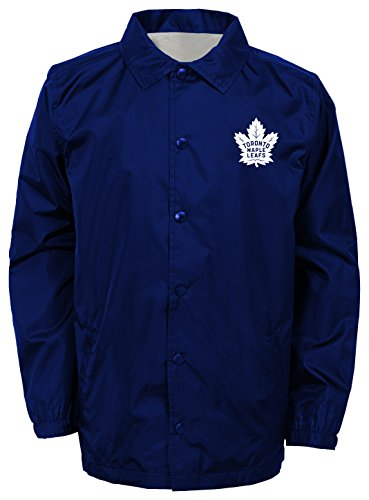 NHL Toronto Maple Leafs Youth Boys Bravo Coaches Jacket, Large(14-16), Royal
