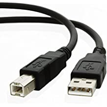TacPower USB Printer Cord Cable for HP Deskjet: D1470, D1520, D1530, D1560, D1600, D1660, D2320, D2330, D2345, D2360, D2368, D2430, D2445, D2460
