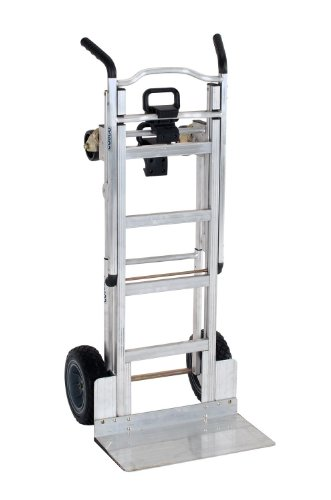 Cosco 3-in-1 Aluminum Hand Truck/Assisted Hand Truck/Cart w/ flat free wheels by Cosco