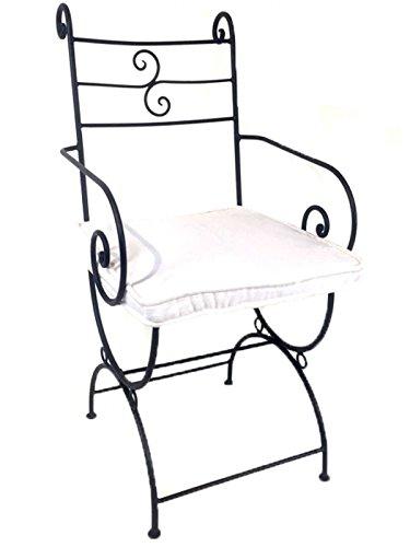 Barock Gartensessel Gartenstuhl Eisen Sessel Armlehnstuhl Eisenstuhl Antik