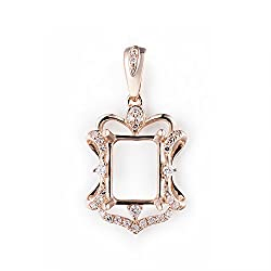 Semi Mount Diamond Pendant for Women