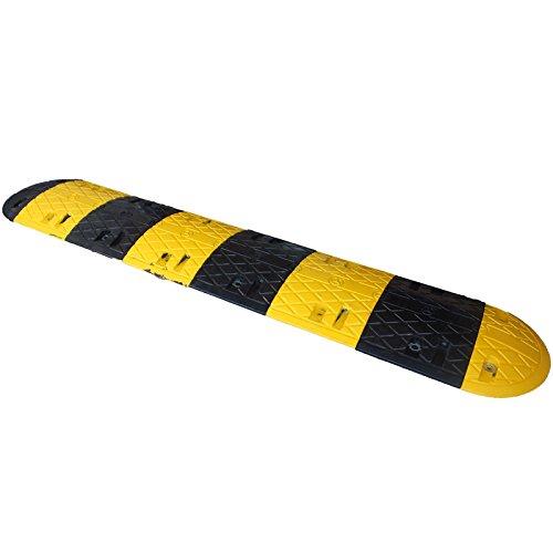 減速帯本体8(黄色4個+黒色4個/先端2(黄色1個+黒色1個)2.39m(コンクリートアスファルト兼用アンカー付属 バンプ) B073M85QKZ