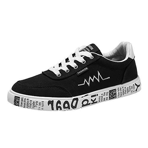 Traspirante e Moda Uomo Scarpe Nero Donne BYSTE Scarpe Uomo Tela Scarpe Stile Stivaletti Basse Nuovo Scarpe up Sneakers da Lace Confortevole di ap4w7qnAw