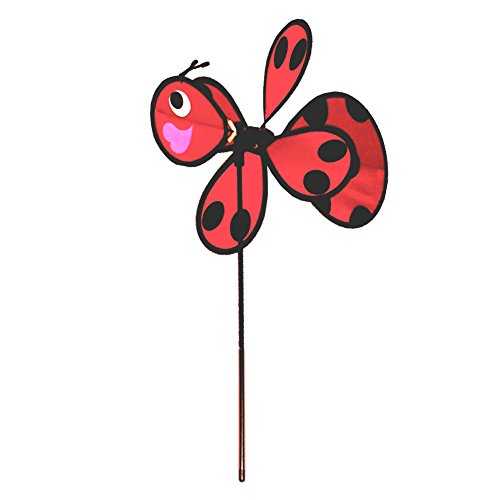 Lady Bug Windmill- Metal Decorative Spinner for Yard & Garden -