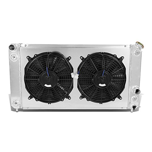 DNA Motoring RA+FS-CHEVY-96-3 Tri Core 3-Row Radiator w/Fan Shroud [For GMT 325/330]