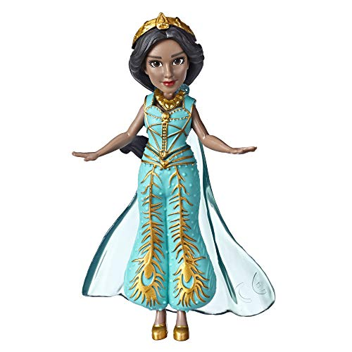 Disney Collectible Princess Jasmine Small Doll in Teal Dress Inspired by Disney's Aladdin Live-Action Movie, Toy for Kids Ages 3 & Up, 3.5