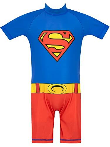 DC Comics Boys' Superman Swimsuit Size 2T Multicoloured
