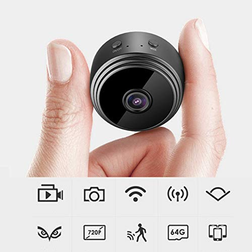 1080p WIFI Camera Surveillance Camera,Wireless Small Portable Night Vision Motion Detection with Wide-angle lens Spy Camera(White)