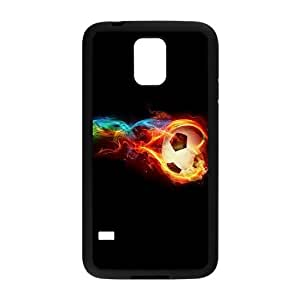 DIY soccer ball on fire Phone Case, DIY Hard Back Durable Case for samsung galaxy s5 i9600 with soccer ball on fire (Pattern-8)