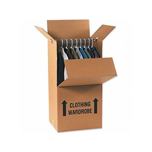 Box Packaging Wardrobe Packing Box, 24'' x 20'' x 46'', Kraft - Bundle of 5
