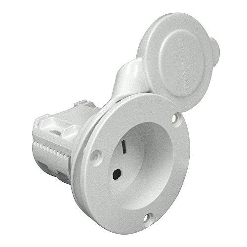 ProMariner 512000F  AC Plug Holder With Clamp, White