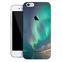Apple iPhone 4 4S Case,Vandot Luxury Ultra Slim Thin Colorful Printing Painting Pattern Soft TPU Silicone Bumper Transparent Back Cover Anti-scratch Perfect Fit Protective Skin -Green Starry Sky