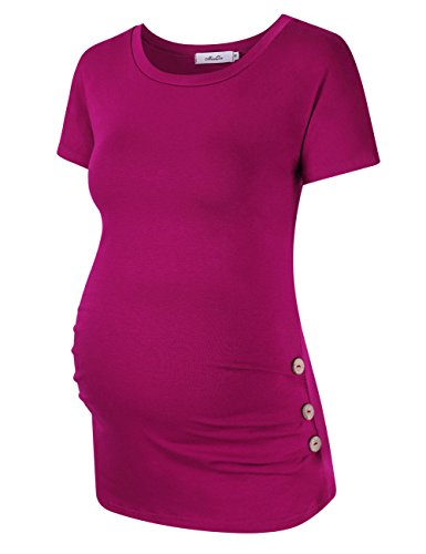 Coolmee MissQee Maternity Shirt Side Button and Ruched Mater