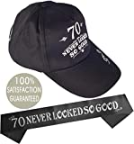 70th Birthday Gifts for Men, 70th Birthday Hat and