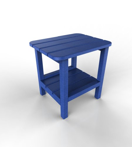 Table Blue Adirondack End (Malibu Outdoor Living End Table, 15 by 19-Inch, Blue)