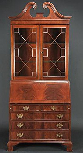 - Mahogany 2PC Secretary Desk & Hutch Top