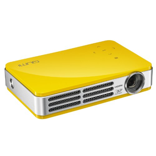 Vivitek Qumi Q5 500 Lumen WXGA HD 720p HDMI 3D-Ready Pocket DLP Projector with 4GB Memory (Yellow)