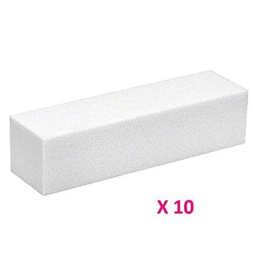 10x Demarkt Polierblock Buffer Nagelfeilen Nagelpolierblock Weiß 9cm*2.5cm*2.5cm