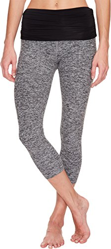 Beyond Yoga Women's Space Dye Performance Maternity Capri Leggings, Black/White,...