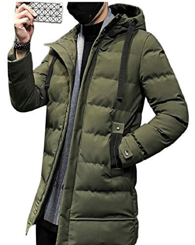Gocgt Men's Mid-Long Down Coats Hooded Packable Padded Puffer Jackets 1