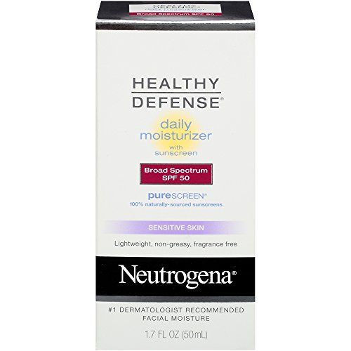 Neutrogena Healthy Defense Daily Moisturizer With Broad Spectrum SPF 50 Sunscreen, Sensitive Skin, 1.7 fl. oz.