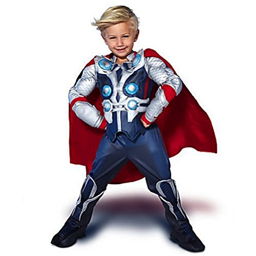 Disney Store the Avengers Deluxe Thor Costume Halloween for Boys Toddlers (M 7-8 Medium) ()