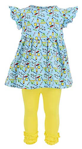 Unique Baby Girls Back to School Recess Tunic Boutique Outfit (2t/XS, Yellow) -