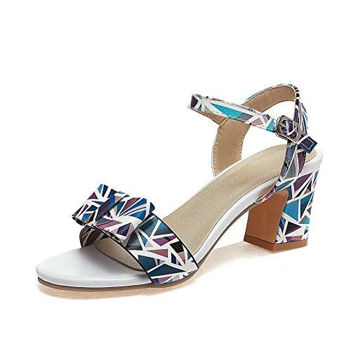 Nubuck Style Womens Sandals AN Assorted Baguette Color DIU00918 Blue Urethane pX7PZZ