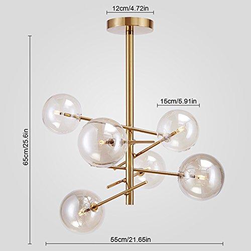 Yoka lighting modern metal pendant lighting hanging lamp ceiling yoka lighting modern metal pendant lighting hanging lamp ceiling chandelier with 6 lights gold finish fixture aloadofball Images
