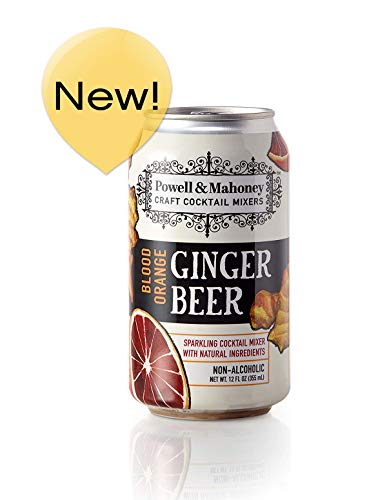 - Powell & Mahoney Craft Cocktail Mixers Blood Orange Ginger Beer, 12 Ounce Cans (16 Pack) Sparkling Non Alcoholic Craft Cocktail Mixer w/Natural Ingredients Sweetened w/Cane Sugar and Ginger Juice