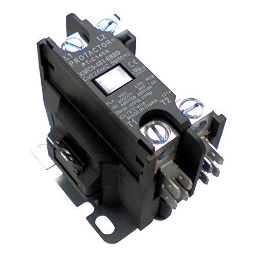 Protactor 1 Pole 40 AMP Heavy Duty AC Contactor Replaces Virtually All Residential 1 Pole - Conditioner Carrier Air Parts