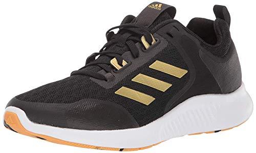 adidas Women's Edgebounce 1.5 Running Shoe, Black/Gold Metallic/White, 10 M US