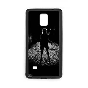 Samsung Galaxy Note 4 Cell Phone Case Black ae59 girl silhouette dark street scary maybe E3V6IC