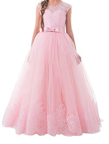 Lisa Lace Flower Girl Dress Kids Christmas Pageant Dresses Ball Gown (Christmas Pageant Dresses)
